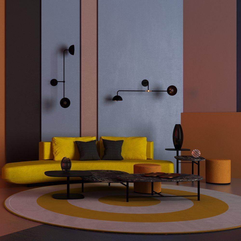 157 TREU karpet openbare ruimte geprint geel